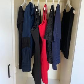 Tøjpakke str. L   7 stk.  2 kjoler  1 top 1 skjorte  3 t-shirts/bluser   100kr for det hele