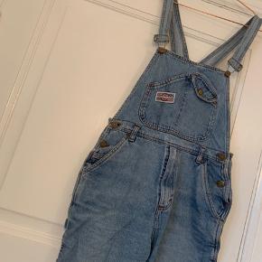 Vintage denim overall med korte ben.