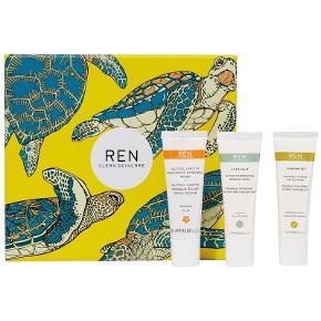 REN Skincare Clean Mask Trio 3x15 ml (Limited Edition) + REN Skincare Rosa Centifolia Gentle Exfoliating Cleanser 100 ml