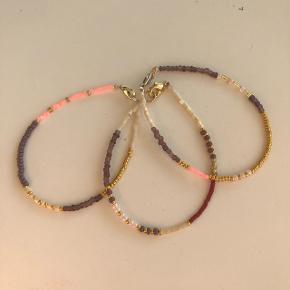 3 perle armbånd seadbeads og miyuki perler 💮 Prisen er samlet for alle 3: 60kr inkl Porto.