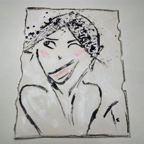 Maleri malet på tykt papir i A3 størrelse Uden ramme  Se mine andre malerier på mine andre annoncer :) T.By.Art.