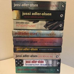 Forskellige Jussi Adler-Olsen bøger, i fin stand. Sælges helst samlet. 6700/Rørkjær