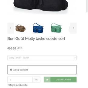 Jeg sælger denne helt nye Bon Goût Molly taske, da den desværre er købt som et fejlkøb. Alt medfølger og der er stadig prismærke og plastik på pomponerne.