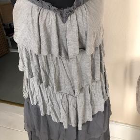Har prøvet denne fine silke kjole en gang men et fejl køb. Er så flot når strøget.