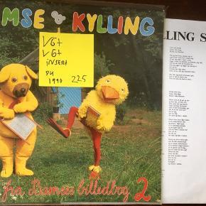 Bamse og kylling bamses billedbog 2 vinyl lp plade til grammofon god stand