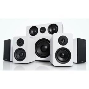 Argon Audio - Alto surround 5.1 højtaler system med surround receiver. I rigtig god stand. Alt tilbehør er med (ledninger og fjernbetjening). Samlet ny pris 6993.-  Byd!
