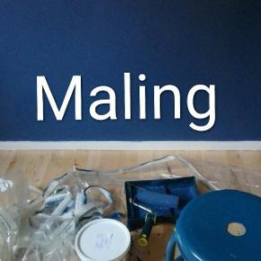 Blå, vandbaseret vægmaling.Der er nok til circa 4 m2. Skriv til hvis du har nogle spørgsmål 🙂