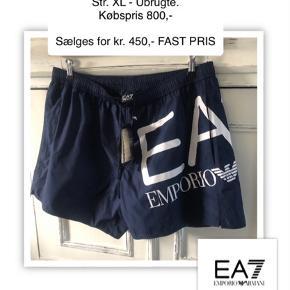 NEDSAT kr 400,- Armani EA7 shorts / badeshorts - ubrugte, str. xl (men store) livvidde 92cm kan strækkes til 110 cm. Købt i Dissing for  kr. 800,- sælges for kr. 450,- ønsker ikke bud prisen er fast.