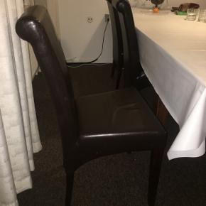 6 stk. Spisestole, Meget brugt men stadig anvendeligt. Kan evt. Betrækkes.