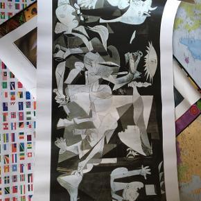 Plakat med Picassos motiv Guernica, som er købt i Paris. Plakaten måler 50x100