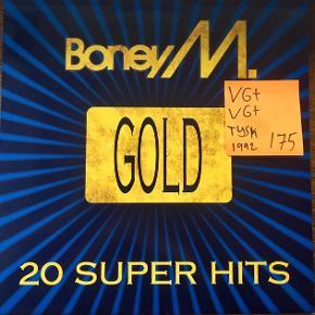 Boney m gold vinyl lp fuld af hits en plade med fedenumre i god stand uden ridser