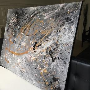 ⚡️🌗🌪 Maleri med målene 80x60 cm. Malet med akryl og spray 🎨 Pris er uden forsendelse Tager også imod bestillinger efter egne farve- og størrelsesønsker 🍭🙏🏽 ROAR