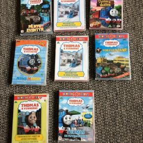 Thomas-tog dvd'er, 15,- pr stk. Mængderabat gives .
