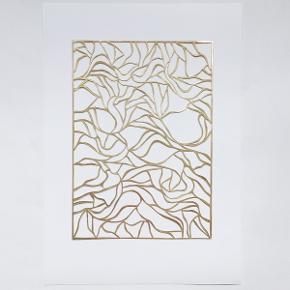 Håndlavet billede i guld A4, med A3 baggrund
