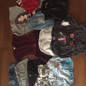 Tøjpakke i størrelse 110-116 til 125kr BYD!!!🌸  12 stykker tøj: 3x shorts, 2x nederdele, 2x kjoler, 2 trøjer, 1x cardigan, 1x jakke, 1x bukser  Mærker som VRS, name it, pompdelux, Mads og Mette mm.