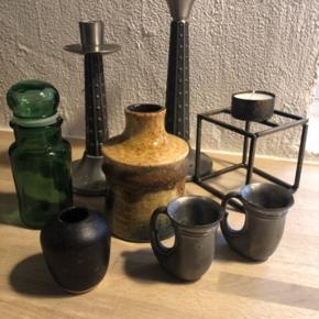 Blandet vaser, lysestager og deco Byd