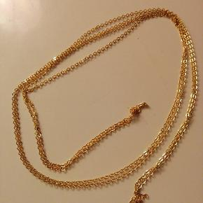 1 meter lang guld belagt kæde til smykker 50 kr