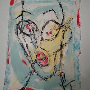 Sælger disse farverige malerier UDEN ramme155 kr. Inklusiv fragt 27x36 cm Hold øje med min profil hvis du kan lide hvad du ser, flere malerier kommer til salg