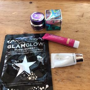 Glamglow gravitymud firming treatment mask  15 gr  Glamglow waterburst hydrated glow moisturizer 15 ml  Glamglow supermud clearing treatmen mask 15 gr  Glamglow glowstarter farve: nude glow 15 ml  Glamglow bubblesheet mask 1 stk