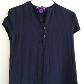 Lang mørkeblå kjole Navyblå kjole i 100% silke Navy blå silkekjole