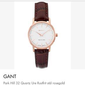Overvejer at sælge mit smukke Gant ur med læderrem. Men kun hvis jeg får den ønsket pris for det. Brugt 1 gang.