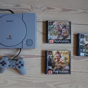 Playstation 1 med controller og 3 spil sælges  Hugo - DiamantfeberHugo - jagten på solsteneneDestruction Derby Raw  Kan sendes eller afhentes i Århus S og Århus V