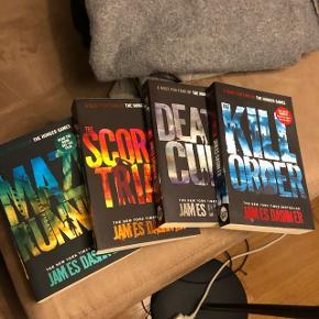 Alle 4 bøger i Mazerunner  serien på engelsk.Kan klart anbefales!! I fin stand