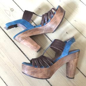 Super fede sandaler fra Buenos Aires, str. 41. Læder og ruskind.