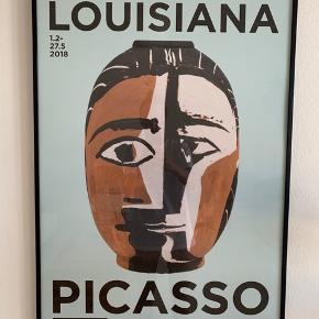 Smuk Picasso keramik plakat i lækker sort metalramme  Kan afhentes på frederiksberj