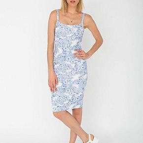 Iconic American Apparel dress no longer being sold. Size small fits EU 36-38. Gorgeous blue and white pattern.