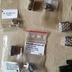 Smykkematrialer i rustfri stål  Sælges samlet
