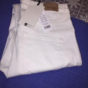Str L Molly highwaist Perfect jeans offwhite Ny og ubrugt Fra røgfrit hjem