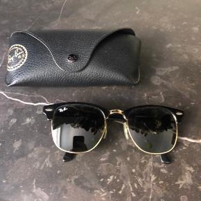 Fede solbriller fra Rayban!!   Rayban Clubmaster RB 3016   Str: 51/21