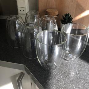 6 stk kopper i glas uden fejl og mangler