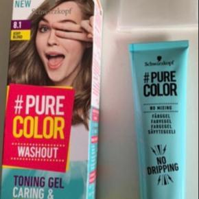 ASH blond📌  Produktinfo Schwarzkopf PureColor Wash Out er en toningsgelé med plejende og fugtighedsgivende ingredienser såsom Aloe Vera og kaktus. Hurtig, enkel og ren gelé-applicering: ingen blanding - kun 1-trins-applicering med en praktisk gelé der ikke drypper.  Midlertidig dækning: holder ca. 8-10 hårvaske.    Ny📌  Tjek også mine andre tilbud 🤩