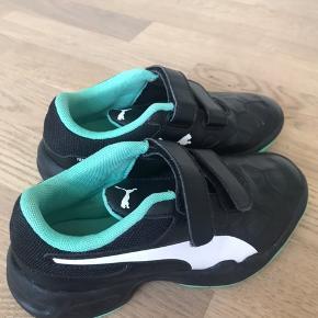 Indendørs sko - brugt til håndboldtræning få måneder - aldrig brugt ude, så de er så gode som ny. Nypris 450