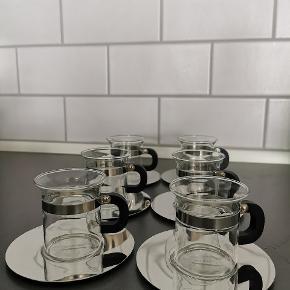 Bodum espresso kopper, 6 styk. Er aldrig blevet brugt og sælges derfor samlet til 100 kroner.