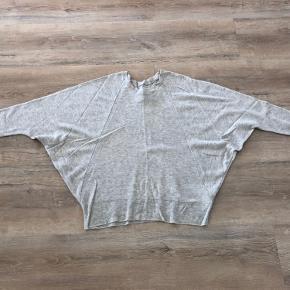 Lækker sweater m. flagermus - og raglan ærmer. Modellen hedder Bolka. Materiale: 60% uld, 40% camel-uld. Har en lille plet foran (se foto 2), derfor den lave pris. Bytter ikke.