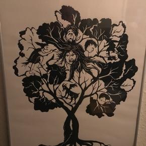 Fin papirklip tryk, fremstillet af kunstneren Ella Biltoft.