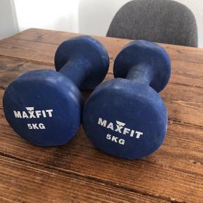 Håndvægte 2x 5 kg