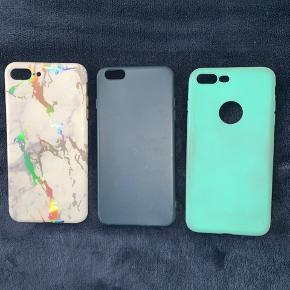 Sælger disse 3 covers til en iPhone 7 plus  Tag dem alle for 30 kr🛍