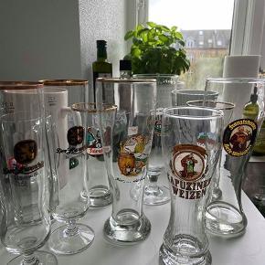 Jeg sælger disse gamle (primært tyske) ølglas- og krus. Der er 12 stk. der skal hentes samlet.  De fejler intet. Hentes i Århus C.