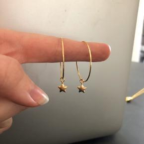Stjerne Hoops diameter 3cm 18k guldbelagt