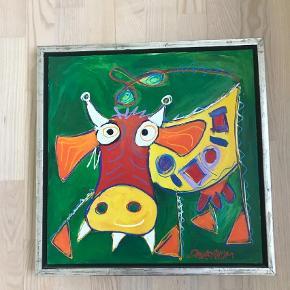 Brand: Niels Davernum Varetype: Maleri Størrelse: 40x40 cm Farve: Multi   Flot abstrakt maleri af Niels Davernum fra 2010 Måler 40x40 cm  Billedet sendes ikke. Kan afhentes i 4800 Nykøbing F.