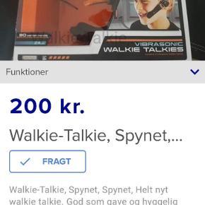 Walkie talkie, aldrig brugt. Sælges for 200kr. Der er 2 stk i.