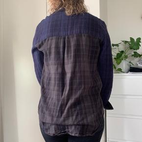 Fed skjorte fra Gestuz, skovmandsskjorte look, grå blå og sort....