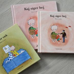 3 Kaj bøger  20 kr stk.  Kaj er væk, som ny  Kaj siger hej, som ny  Kaj siger hej, Stor, gmb, ikke slidt eller i stykker