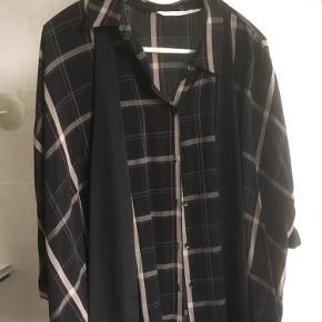 Super trendy skjorte tunika med tern - bud fra 100,- pp