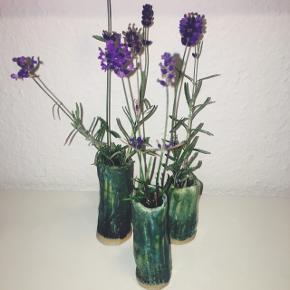 3 små vaser - keramik / stentøj.   Prisen er for alle 3 vaser.