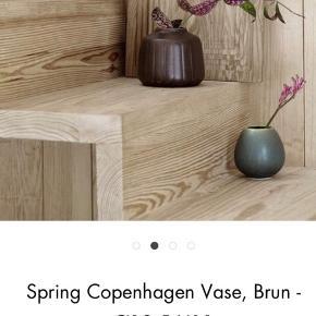 Spring Copenhagen vase i smuk brun.